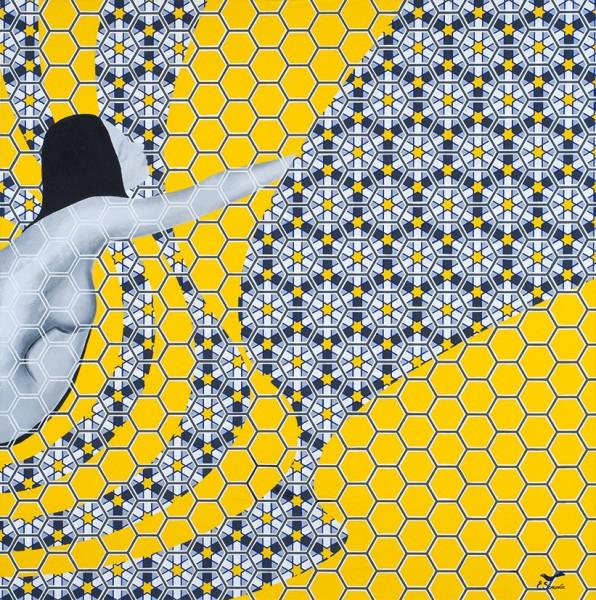 Сорока Елена. Диптих «Золотой телец». 2019. Холст наподрамнике, темпера. 80×160см.