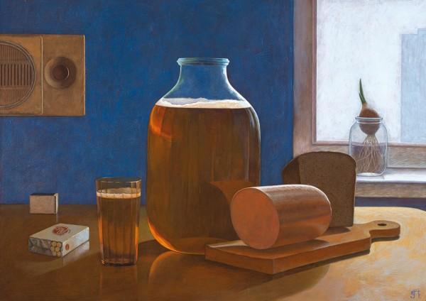 Захаров Петр. «88». 2008. Оргалит, акрил. 60×85см.