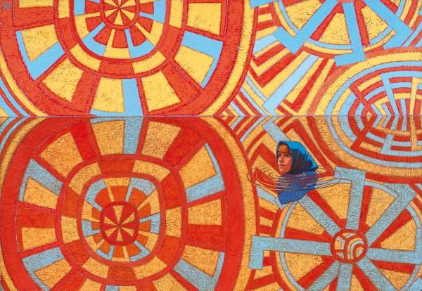Захаров Петр. «Катя». 2010. Оргалит, акрил. 48×70см.