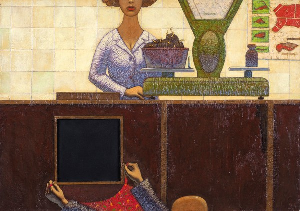 Захаров Петр. «Картошка». 2008. Оргалит, акрил. 39×56см.