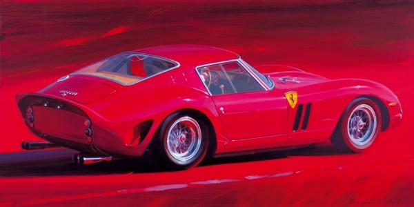 Перешивайлов Петр. «Ferrari 250GTO». 2018. Холст, масло. 60×120см.